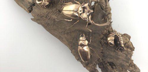 """Бронзовые реплики древних окаменелостей и современных насекомых, созданные преподавателем биохимии (13 фото)"""">"""