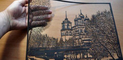 Изящные картины, вырезанные из бумаги псковским художником Виктором Кушнаренко (26 фото)