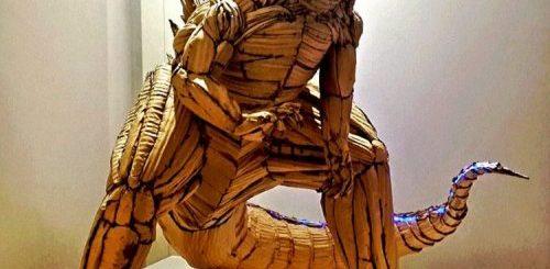 Тайваньский художник-самоучка создаёт потрясающие скульптуры из обычного картона (12 фото)