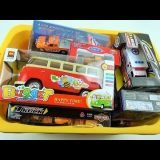 Box full of news cars toys welly and more cars Video for kids
