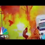 Deadly Syria Blast Captured On Surveillance Video   NBC News