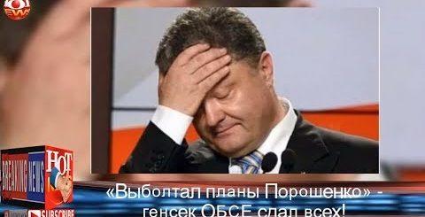 «Выболтал планы Порошенко»: Генсек ОБСЕ сдал всех! | Новости Мира HOT NEWS TV - HOT NEWS TV