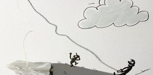 """Причудливые иллюстрации Винсента Баля, созданные с помощью теней от предметов (14 фото)"""">"""