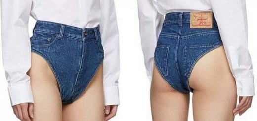 Очередной модный тренд: экстремально короткие джинсовые шорты