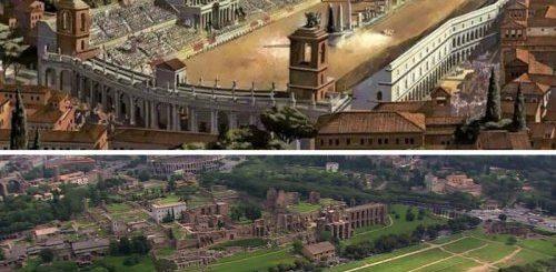 """Знаменитые римские сооружения 2000 лет назад и сейчас (6 фото)"""">"""