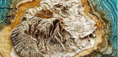 """Геолог вырезает из дерева 3D-карты, чтобы показать насколько красива наша планета (9 фото)"""">"""