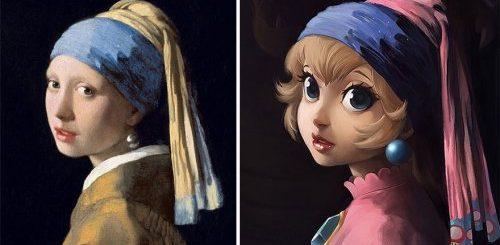 """Художница воссоздаёт классические картины с персонажами поп-культуры (13 фото)"""">"""