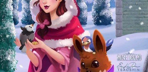 """Цифровой художник представил, с кем из покемонов дружили бы диснеевские принцессы (9 фото)"""">"""