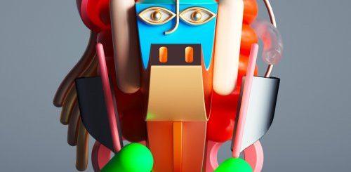 """Портреты Пикассо в виде глянцевых цифровых скульптур (9 фото)"""">"""