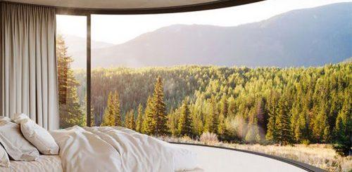 """Сборный домик с выдвижным панорамным окном для восхитительного отдыха на природе (7 фото)"""">"""