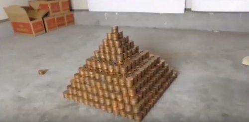 """Американец построил пирамиду более чем из миллиона одноцентовых монет, и она претендует на мировой рекорд (3 фото + видео)"""">"""
