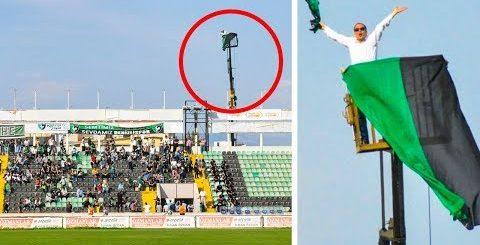 Фанату запретили приходить на стадион любимой команды. Смотри, как он выкрутился!