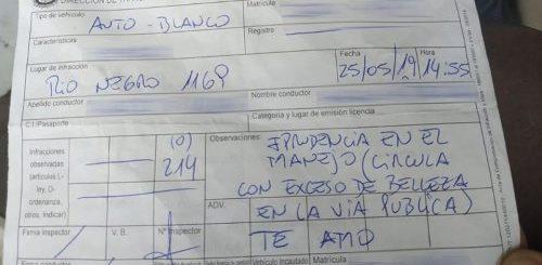 """В Уругвае дорожный инспектор оштрафовал женщину-водителя за чрезмерную красоту на дорогах общественного пользования"""">"""