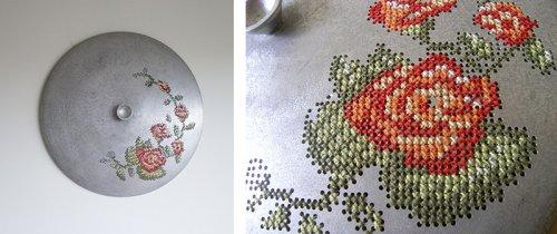 """Литовская художница, которая любит вышивать по металлу (17 фото)"""">"""