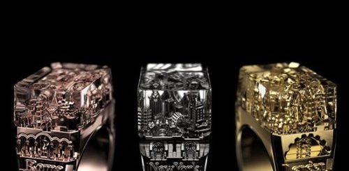 """Архитектурные кольца с миниатюрными версиями городских силуэтов (19 фото)"""">"""