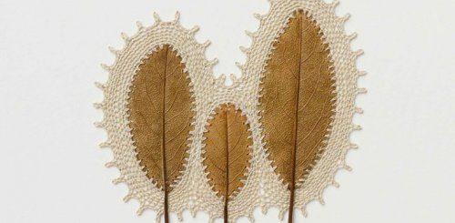 """Художница вдыхает новую жизнь в опавшие листья с помощью крючка для вязания (19 фото)"""">"""