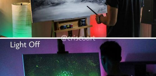 """Светящиеся картины итальянского художника-самоучки, которые в темноте приобретают иной смысл (27 фото)"""">"""