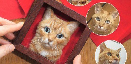 """Японская художница создаёт реалистичные войлочные 3D-портреты кошек, и ни один из них практически не отличить от """"оригинала"""" (14 фото)"""">"""