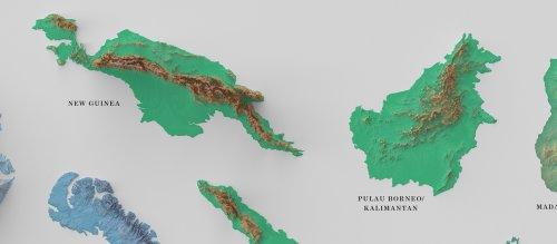 """100 крупнейших островов мира на одном постере (6 фото)"""">"""