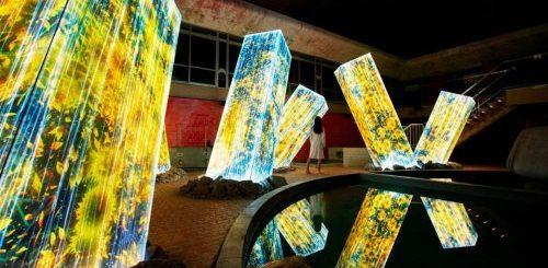 """Красочная инсталляция со светящимися колоннами в Японии (7 фото + видео)"""">"""