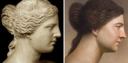 """Художник показал, как могли выглядеть герои известных картин и скульптур прошлого, в серии гиперреалистичных портретов (8 фото)"""">"""