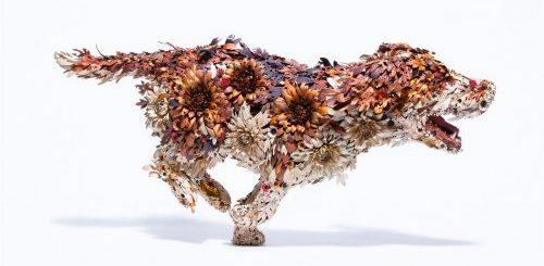 """""""Цветущие"""" металлические скульптуры животных от японского кузнеца (12 фото)"""">"""