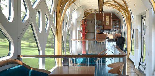 """Внутри нового роскошного японского поезда, который отправляется в путешествие с Платформы 13½ (16 фото)"""">"""