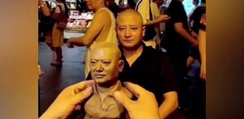 """Китайский художник создает безумно реалистичные глиняные бюсты прохожих (фото + видео)"""">"""