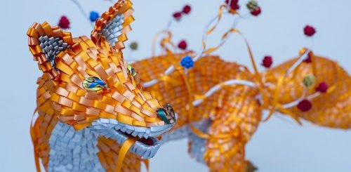 """Японские художники создают красочные скульптуры из лент (10 фото)"""">"""