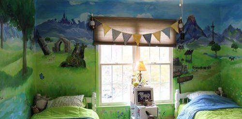 """Художница из США превратила комнату сестёр в фантастический мир The Legend of Zelda (10 фото)"""">"""