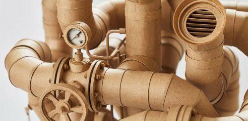 """Картонные скульптуры Грега Олийника, вдохновлённые стимпанком (12 фото)"""">"""