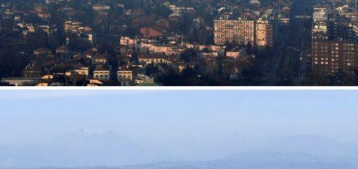 """11 фотографий """"до и после"""", демонстрирующих положительный эффект от карантина, снизившего уровень загрязнения воздуха"""">"""