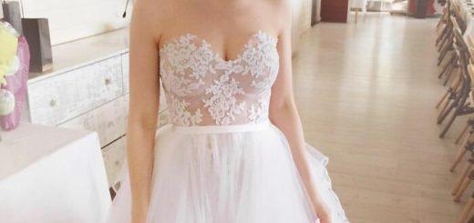 Красивые свадебные платья, созданные руками невест