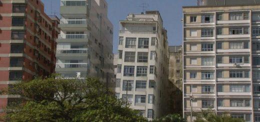 Гигантское домино: накренённые дома в Сантосе (5 фото)