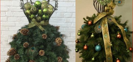 Креативные новогодние елочки из манекенов