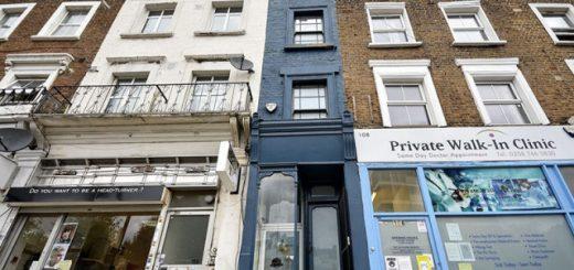 Как выглядит внутри самый узкий дом в Лондоне (14 фото)